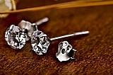 Brinco feminino de prata pura com garantia vitalicia