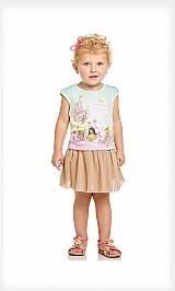 Blusa infantil feminina menina malha glitter princesas verao