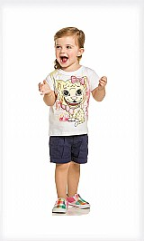 Blusa infantil feminina menina malha boca abre fecha glitter