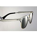 Ray ban clubmaster aluminium rb3507 prata espelhado.