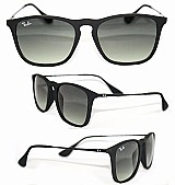 Óculos de sol chris wayfarer rb4181 preto feminino masculino