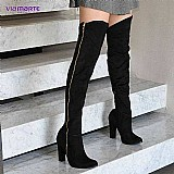 Bota over the knee feminina via marte 16-5005 (frete gratis)