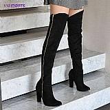 Bota over the knee feminina via marte 16-5005 (frete gratis)