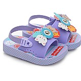 Sandalia feminina infantil com elastico lilas fisher price