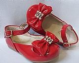 Sapatilha infantil pampili lara vermelho em couro