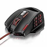 Multilaser mouse gamer sensor óptico 4000dpi,  usb,  18 botoes