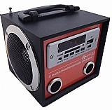 Caixa de som portatil yy 02 mp3 entrada usb pen drive radio