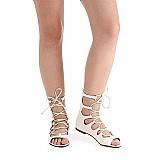 Sandalia rasteira gladiadora feminina vizzano - branco