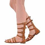 Sandalia feminina rasteira rasteirinha gladiadora media 1057
