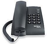 Aparelho telefonico fixo com fio intelbras pleno preto nf-e