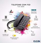 Aparelho telefonico fixo com fio elgin tcf-2000