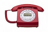 Aparelho telefone fixo tc 8312 vermelho flash retro  nfe