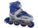 Super patins skate inline roller 1roda led gel dsr exclusivo
