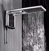 Ducha acqua storm ultra cromado com preto 220v lorenzetti