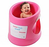 Banheira terapeutica pra bebe ofurô rosa 12-48 meses babytub