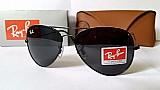 Ray ban óculos aviador masculino cristal c/ case certificado