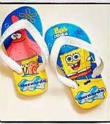 Chinelos personalizado bob esponja infantil tema frozen varios tamanhos