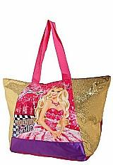 Sacola bolsa infantil barbie a princesa pop star sestini