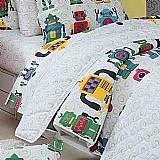 Jogo de cama 03 pcs solteiro infantil robô. frete gratis