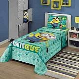Jogo de cama infantil minions 3 pecas lepper 1, 50x2, 10m