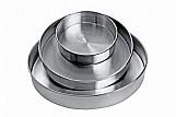 Jogo com 3 formas redondas para bolo em aluminio