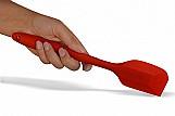 Espatula inteiramente silicone cabo macico - colher pao duro