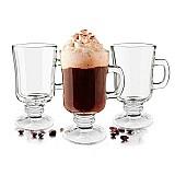 Tacas de vidro xicara para cafe capuccino 240 ml - kit 12 pc