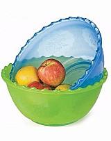 Saladeira bacia de plastico p/salada colorida decorada 6, 2lt