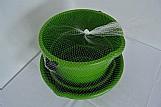 Kit 1 balde e 2 bacias em plastico cor verde