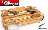 Tabua inteligente madeira artesanal churrasco carne babygril