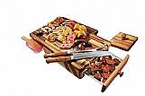 Tabua churrasco. mantenha carne quentinha   3 brindes *