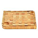Tabua de carne churrasco em madeira tropical 40x30x3, 5 cm