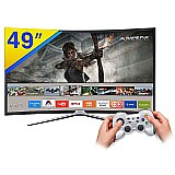 Smart tv games led 49 samsung full hd curva wi-fi-49k6500