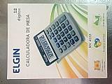 Calculadora simples elgin nova com pilha