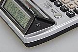 Calculadora de mesa 2 lcd 12 digito com testa-dinheiro-falso