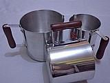 Kit fervedor aluminio 3 pecas resistencia e durabilidade