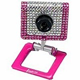Webcam fashion leadership strass mod 3403 branca e rosa