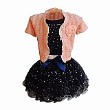 Conjunto infantil bolero blusa saia oferta!