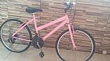 Bicicleta tamanho medio , rosa