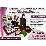 Maquina de fazer chinelo   prensa termica plana r$ 2999, 00