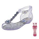 Sandalia infantil feminina disney princesas prata - 21296