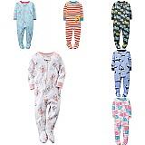 Pijama macacao carters menino menina ziper pes fechados