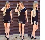 Vestido curto feminino com pedras roupa feminina