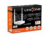 Roteador link one 300mbps duas antenas (novo/garantia)