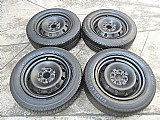Fiat roda original ferro aro 14 jogo original tipo palio uno premio pneu usado pirelli 175/6514 p.fumagall