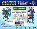 Maquina de fabricar blocos e pavimentos de concreto pneumatica e hidraulica