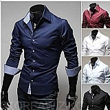 Camisa social slim fit luxo importada