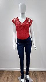 Calca gestante jeans skinny strass amor mae moda gestante
