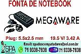 Fonte do notebook megaware novo na caixa em salvador