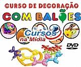 Curso de escultura de balões para festas e centro de mesa